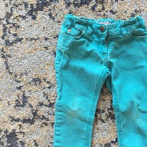 Mini Boden teal jeans